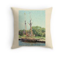 Pride of Baltimore II - Bay City Visit Throw Pillow