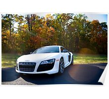 Gleaming Audi R8 Poster