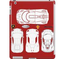 Super Car BluePrints - Aventador, Zonda F, P1, Agera R iPad Case/Skin