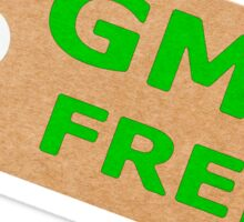 GMO Free Brown Card Label With String Sticker