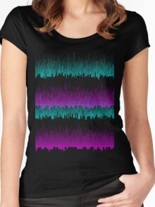 CGA pixelscape Women's Fitted Scoop T-Shirt