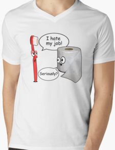 Funny Sayings - I hate my job Mens V-Neck T-Shirt