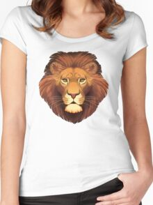 Lion Face Women's Fitted Scoop T-Shirt