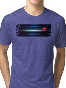 8bit Leather Pixel Tri-blend T-Shirt