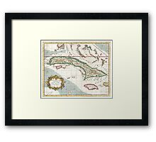 Vintage Map of Cuba and Jamaica (1763) Framed Print