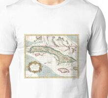 Vintage Map of Cuba and Jamaica (1763) Unisex T-Shirt