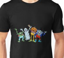 Cartoon illustration of  waving halloween characters. Unisex T-Shirt