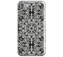 Black & White Folk Art Pattern iPhone Case/Skin