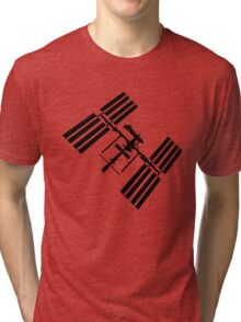 ISS (International Space Station) Silhouette Tri-blend T-Shirt