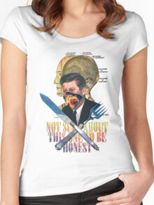 Fresh Kennedy. Women's Fitted Scoop T-Shirt