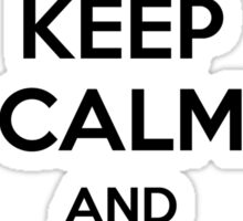 Keep Calm And Cycle On Sticker