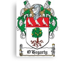 O'Hegarty Coat of Arms (Donegal) Canvas Print