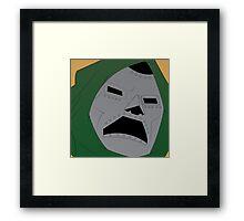 Dr. Doom Halftone Framed Print