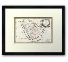 Vintage Map of Saudi Arabia (1771) Framed Print