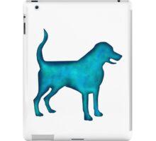 Labrado Retriever Watercolor Silhouette iPad Case/Skin