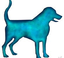 Labrado Retriever Watercolor Silhouette by Laura Bell