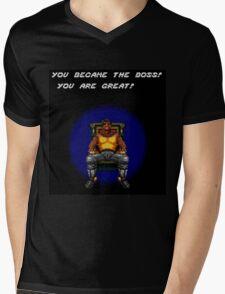 Adam Became the Boss Mens V-Neck T-Shirt