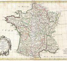 Vintage Map of France (1771)  by BravuraMedia