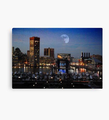 Baltimore Skyline from Federal Hill Canvas Print