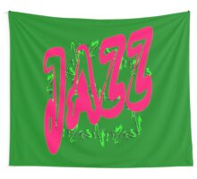 Jazz in Red Wall Tapestry