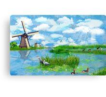 Kinderdijk - a Dutch Landscape Canvas Print