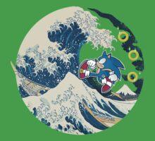 Sonic the Hedgehog - Hokusai Kids Tee