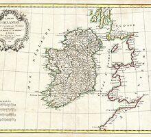 Vintage Map of Ireland (1771) by BravuraMedia