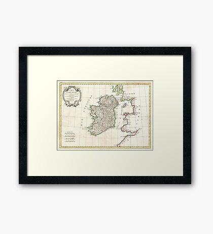 Vintage Map of Ireland (1771) Framed Print