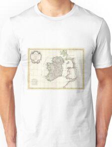 Vintage Map of Ireland (1771) Unisex T-Shirt