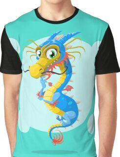 Colorful Dragon Graphic T-Shirt
