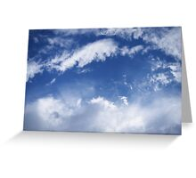 blue sky with white clouds Greeting Card