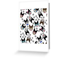 Cute Boston Terrier Illustration Greeting Card
