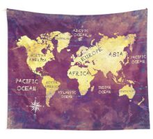 world map 17 Wall Tapestry