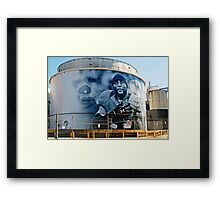 Raven Ray Lewis on Under Armour Title Tank Framed Print