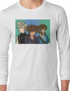 Updated Blue-eyed gamer boyz Long Sleeve T-Shirt
