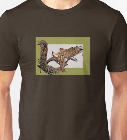 Red-shouldered Hawk Landing    Unisex T-Shirt