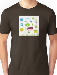 Recycle, nature and ecology icons isolated on white background Unisex T-Shirt