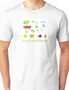 Agriculture, garden and nature icons isolated on white background Unisex T-Shirt