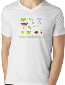 Agriculture, garden and nature icons isolated on white background Mens V-Neck T-Shirt