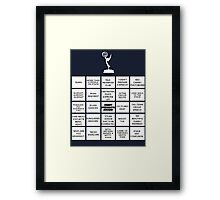 Emmy Awards Show Bingo Framed Print