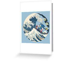 Sonic the Hedgehog - Hokusai Greeting Card
