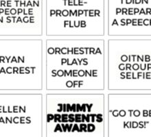 Emmy Awards Show Bingo Sticker