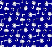 Palmetto Moon Pattern Blue by Carolina Swagger