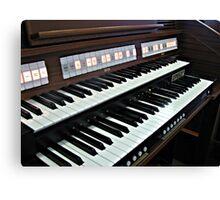 Heavenly Music - Organ Keyboard Canvas Print