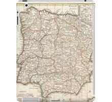 Vintage Map of Spain (1775)  iPad Case/Skin
