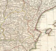 Vintage Map of Spain (1775)  Sticker
