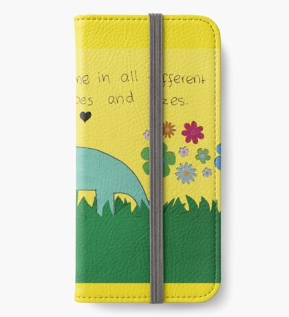 Friendships Come in Different Shapes and Sizes iPhone Wallet/Case/Skin