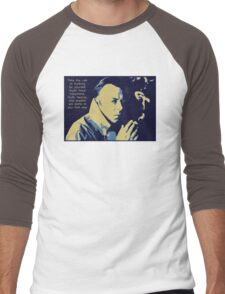 Christopher Hitchens Quote Men's Baseball ¾ T-Shirt