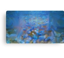 Scale Blue Abstract Painting Canvas Print