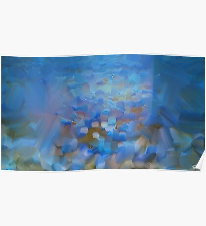 Scale Blue Abstract Painting Poster